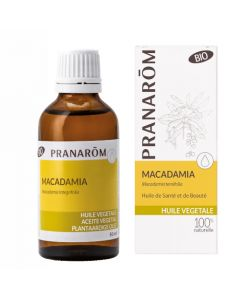 Pranarôm Huile Végétale de Macadamia Bio 50ml
