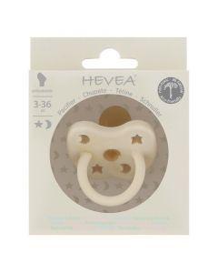 Hevea Tétine Physiologique 3-36 mois couleur Milky White