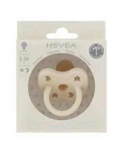 Hevea Tétine Ronde 3-36 mois couleur  Milky White