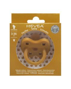 Hevea Tétine Physiologique 3-36 mois couleur Turmeric