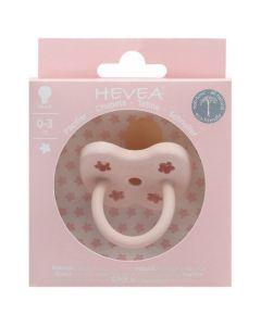 Hevea Tétine Ronde 0-3 mois couleur Powder Pink