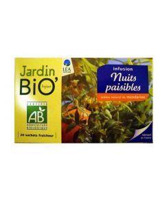 Jardin Bio Infusion Nuits Paisibles 20 Sachets