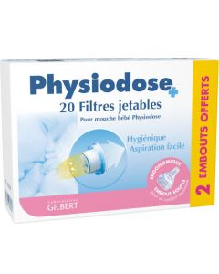 Physiodose 20 Filtres Jetables + 2 Embouts
