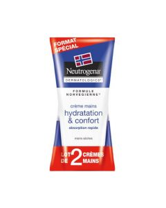 Neutrogena Crème Mains Hydratation et Confort 2 x 75ml