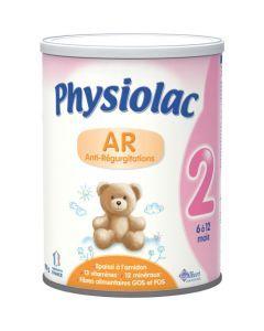 Physiolac AR 2 Lait Anti-régurgitations 2ème Âge 900g