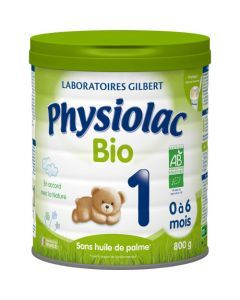 Physiolac Bio 1 Lait Infantile 1er Âge 800g