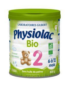 Physiolac Bio 2 Lait Infantile 2ème Âge 800g