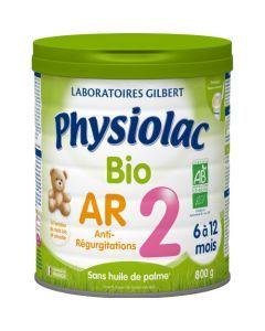 Physiolac Bio AR 2 Lait Anti-régurgitations 2ème Âge 800g