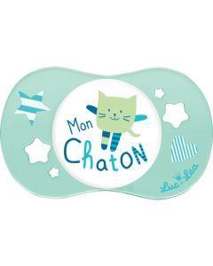 """Luc et Léa Sucette 0-6 mois symétrique """"MON CHATON"""""""