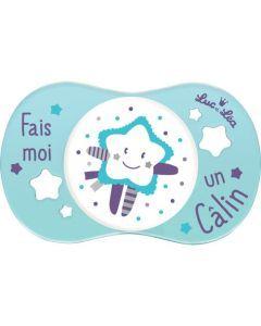 """Luc et Léa Sucette +6 mois symétrique """"FAIS MOI UN CALIN"""""""