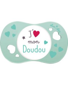 """Luc et Léa Sucette +6 mois physiologique """"J'aime mon doudou"""""""