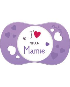 """Luc et Léa Sucette +6 mois symétrique """"J'aime ma mamie"""""""