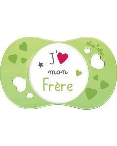 """Luc et Léa Sucette +6 mois symétrique """"J'aime mon frère"""""""