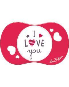 """Luc et Léa Sucette +6 mois symétrique """"I LOVE YOU"""""""