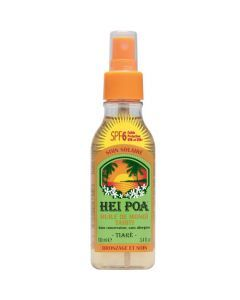 Hei Poa Huile de Monoï Tiaré SPF6, Faible protection, 100 ml