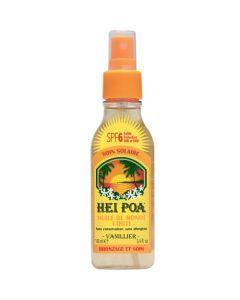 Hei Poa Huile de Monoï Vanillier SPF6, Faible protection, 100 ml