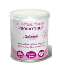 Saforelle Florgynal Tampon Probiotique Normal Sans Applicateur 12 Tampons