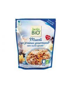 Jardin Bio Muesli Sans Sucres Ajoutés Aux Graines Gourmandes 375g