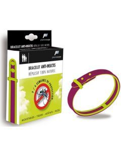 Pharmavoyage Bracelet Anti-insecte Naturel Prune Vert 1 Bracelet