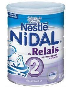 Nestlé Nidal Lait 2ème Âge Relais 800g