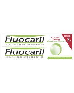 Fluocaril Bi-Fluoré 250 mg Menthe Pâte Dentifrice 2x125 ml