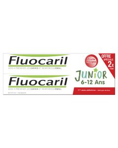 Fluocaril Junior Fruits Rouges Dentifrice 2x75 ml