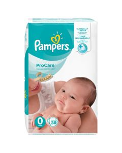 Pampers ProCare Premium Protection Taille 0 1-25 kg 38 Couches