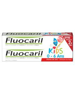 Fluocaril Kids Fraise Dentifrice 2x50 ml