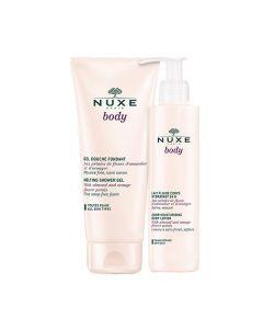 Nuxe Body Lait Fluide Corps Hydratant 24h 400ml + Body Gel Douche Fondant 200ml