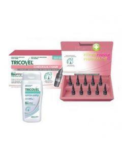Tricovel Femme Anti-chute 10 Ampoules + Shampooing 200ml Offert