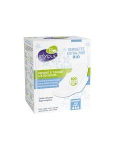Unyque Bio Serviettes 100% Coton Bio Normal x10