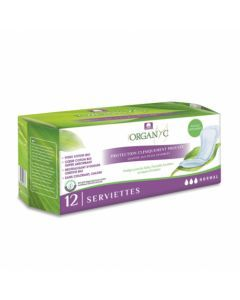 Organyc Fuites Urinaires Normal Bio 12 serviettes