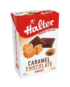 Halter Bonbons Sans Sucre Caramel Fourré Choco 36G
