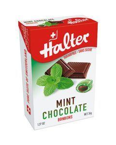 Halter Bonbons Sans Sucre Menthe Fourré Choco 36G