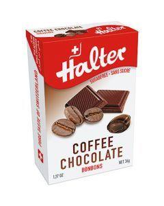 Halter Bonbons Sans Sucre Cafe Fourré Choco 36G