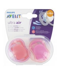 Avent Ultra Air 6-18 mois Rose 2 sucettes