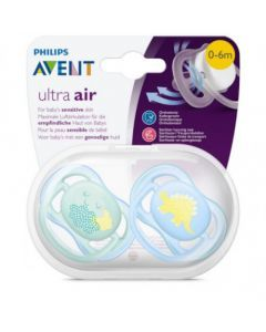 Avent Ultra Air 0-6 mois 2 sucettes