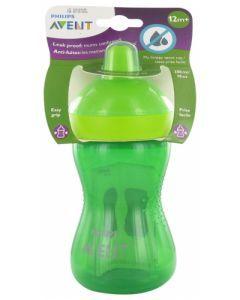 Avent Repas Tasse à Bec Dur 12 mois et + Vert 300ml