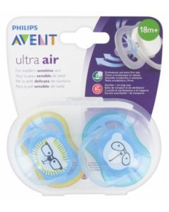 Avent Ultra Air 18 mois+ 2 sucettes