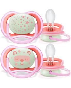 Avent Ultra Air Night 6-18mois 2 sucettes