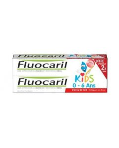 Fluocaril Dentifrice Kids Gel Fraise 2x50mg