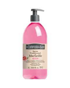 Le Comptoir du Bain Savon traditionnel de Marseille Rose 1L