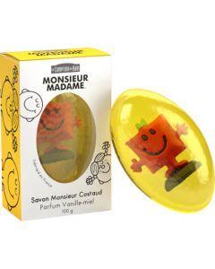 Le Comptoir du Bain Savon Monsieur Costaud - Parfum Vanille - Miel 100 g