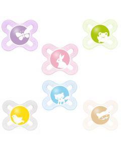 MAM Sucette Naissance - de 0 à 2 mois - Silicone - Boîte de stérilisation - coloris aléatoire