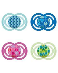 MAM Sucette Perfect - à partir de 6 mois - Silicone - Boîte stérilisation - coloris aléatoire
