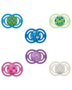 MAM Sucette Perfect - à partir de 18 mois - Silicone - Boîte stérilisation - coloris aléatoire