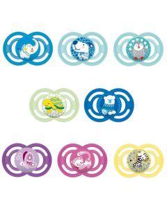MAM Sucette Perfect - à partir de 6 mois - Silicone - Lot de 2 - Boîte stérilisation - coloris aléatoire