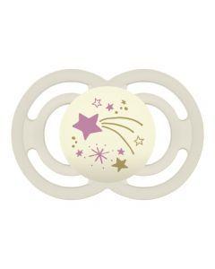 MAM Sucette Perfect Nuit à partir de 18 mois Décor - Lot de 2 - Silicone - Boite stérilisation
