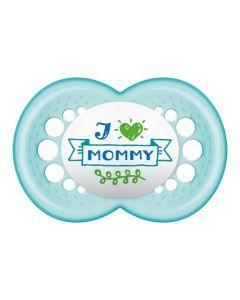 Mam Sucette Décor Message 18+ mois Silicone Boite stérilisation x 2