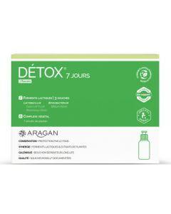 Aragan Détox 7 Jours 7 flacons 10 ml à double compartiment